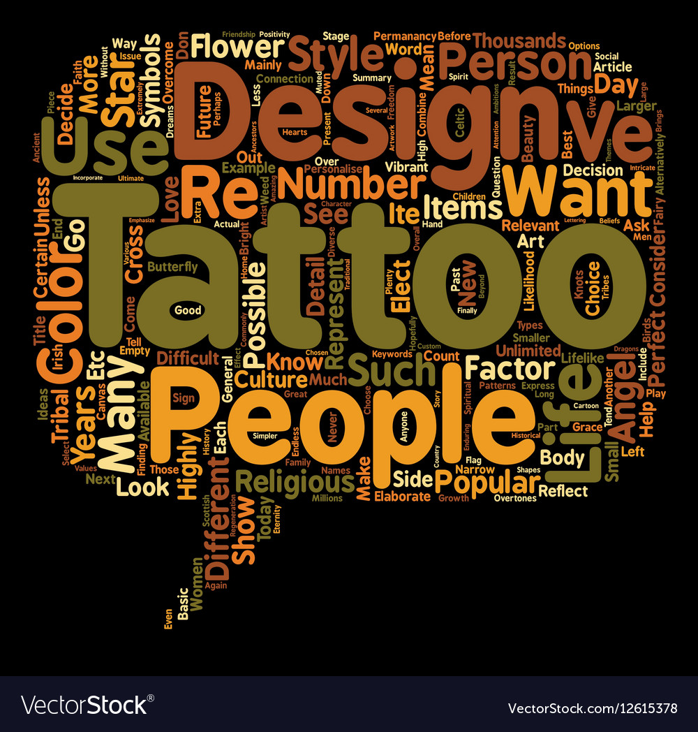 Tattoo Designs Ideas To Consider text background vector image