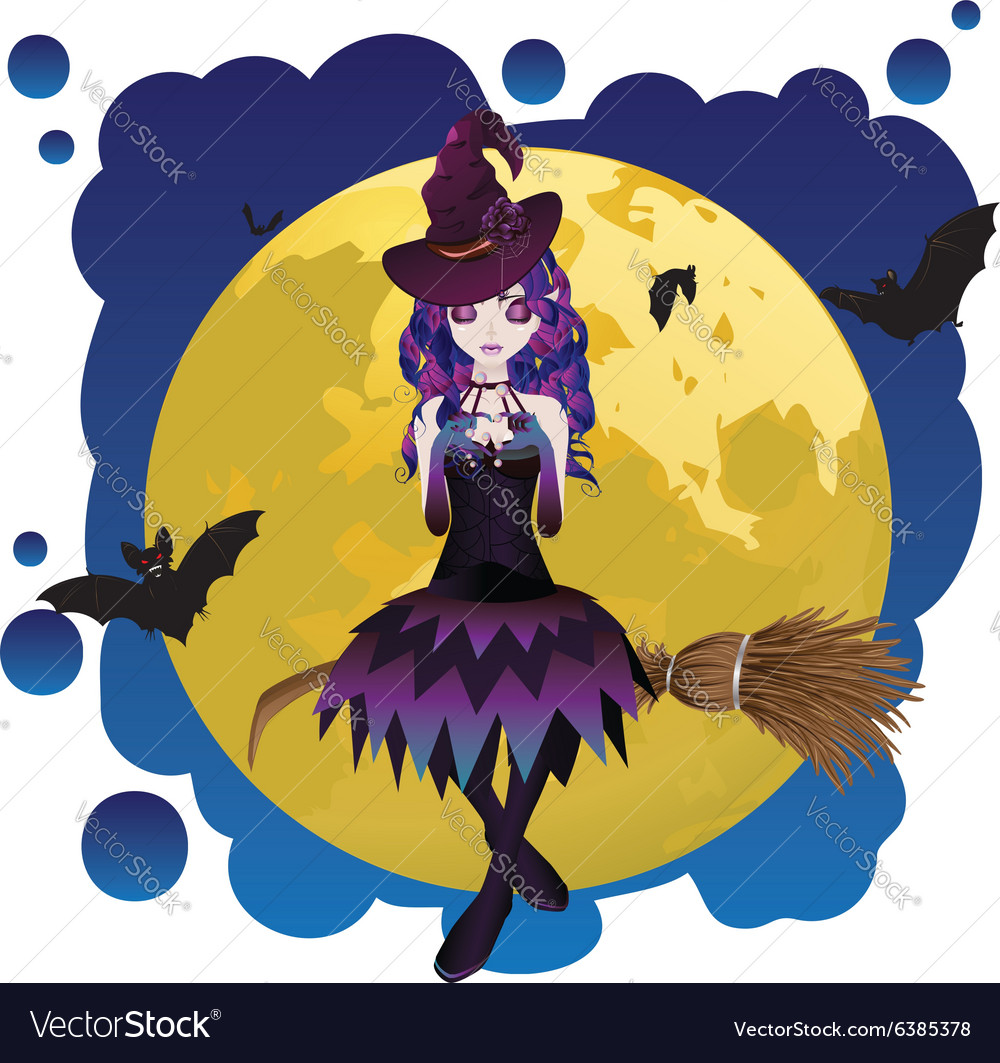 Witch and Full Moon