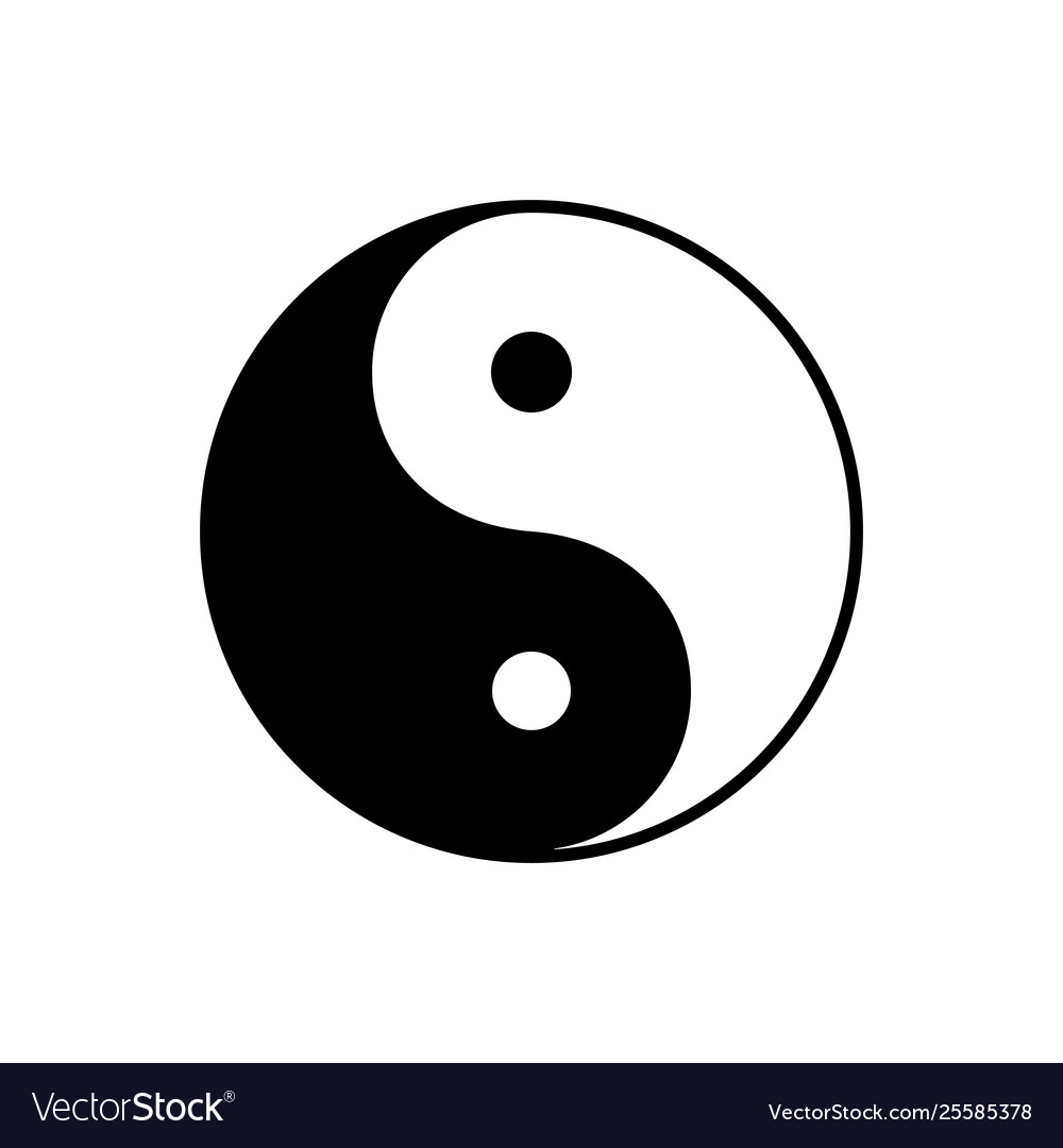 Yin yang symbol dualism in ancient chinese