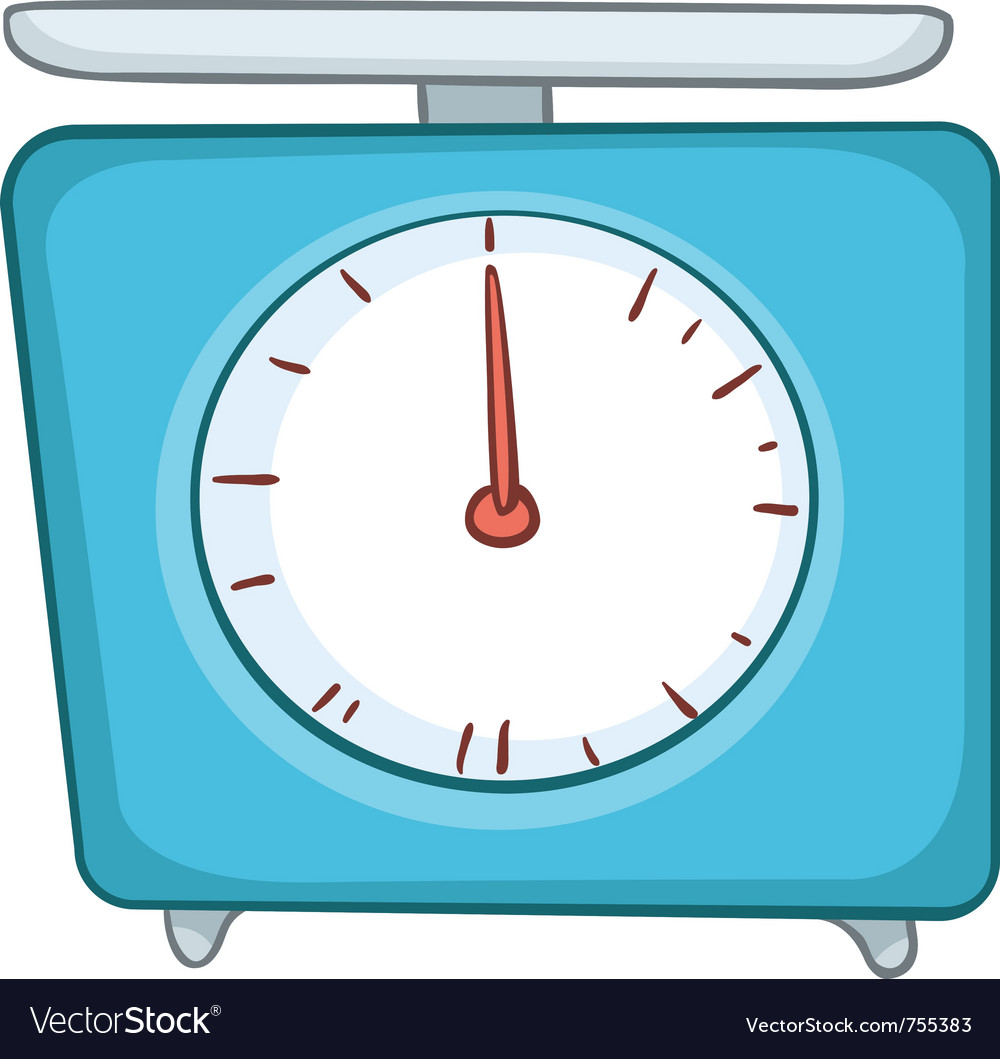 Cartoon home kitchen scales vector image