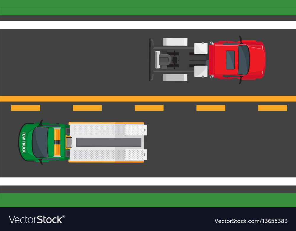 City traffic concept with cars on highway