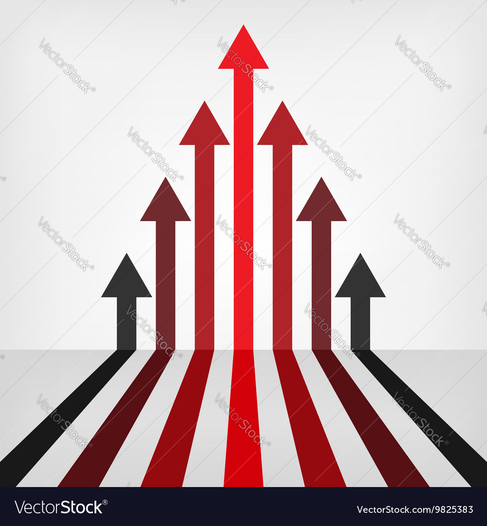 Graph arrows background vector image