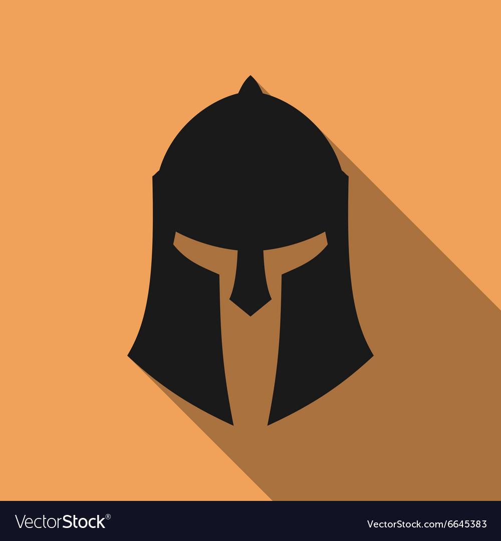 Icon of ancient Greek Roman Spartan helmet