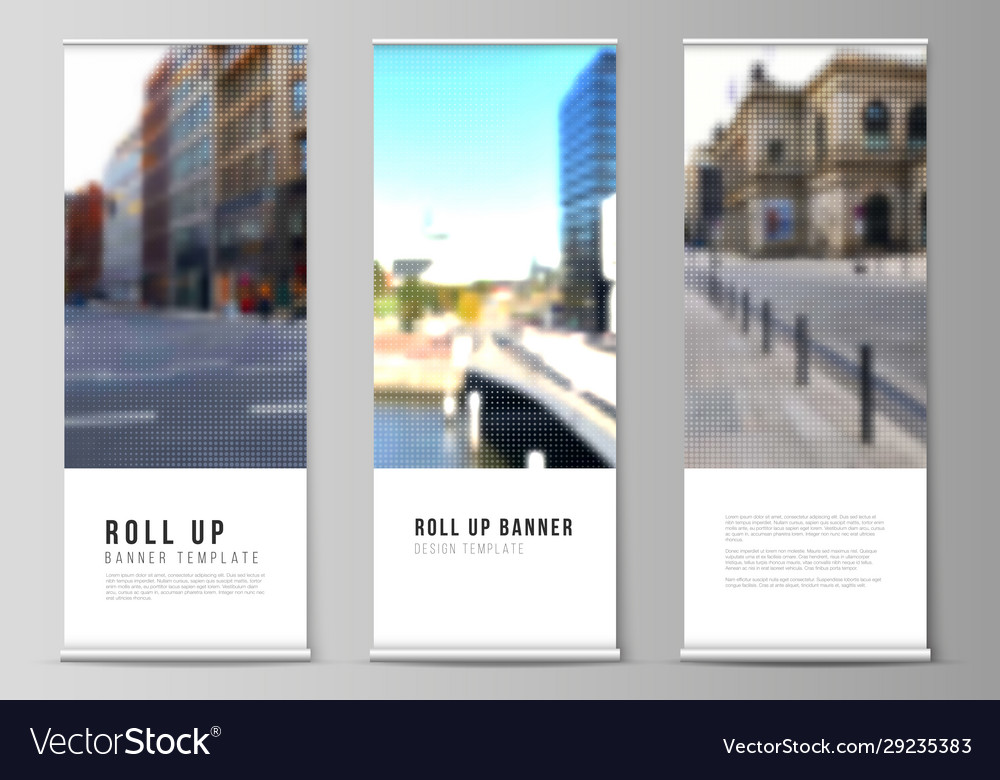 Layout roll up mockup design templates