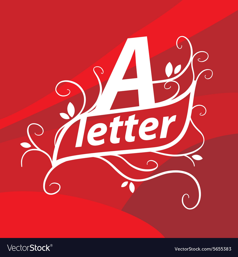 Logo letter A with floral patterns