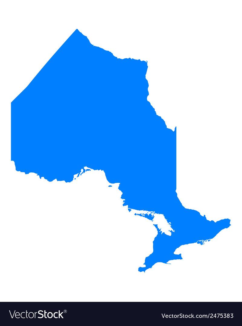 Map of Ontario Royalty Free Vector Image - VectorStock
