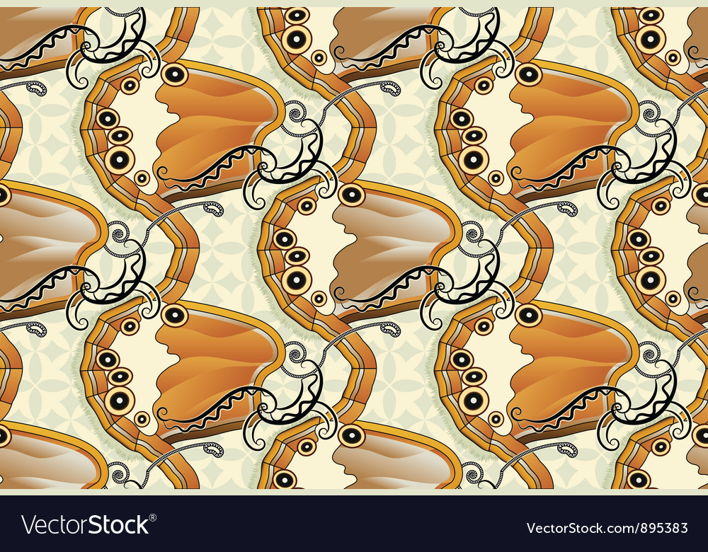 Seamless butterfly background - Pearly Heath