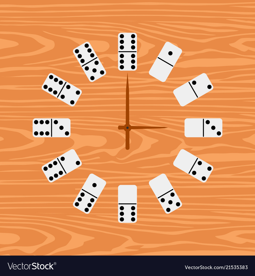 Simple clock domino flat