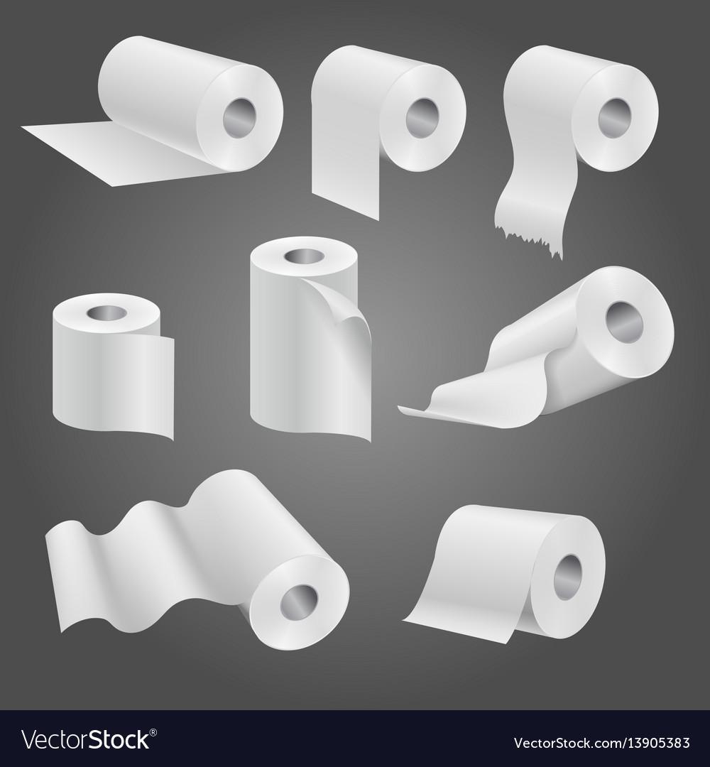 Toilet paper roll white soft kitchen towels