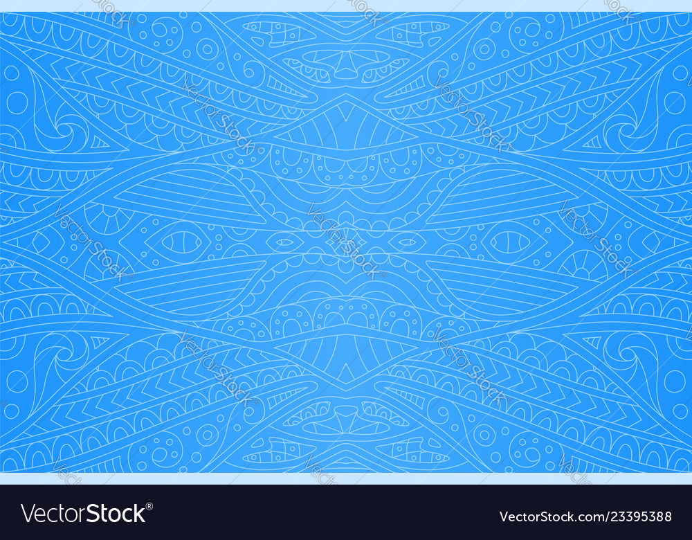 Beautiful art with blue seamless abstract pattern