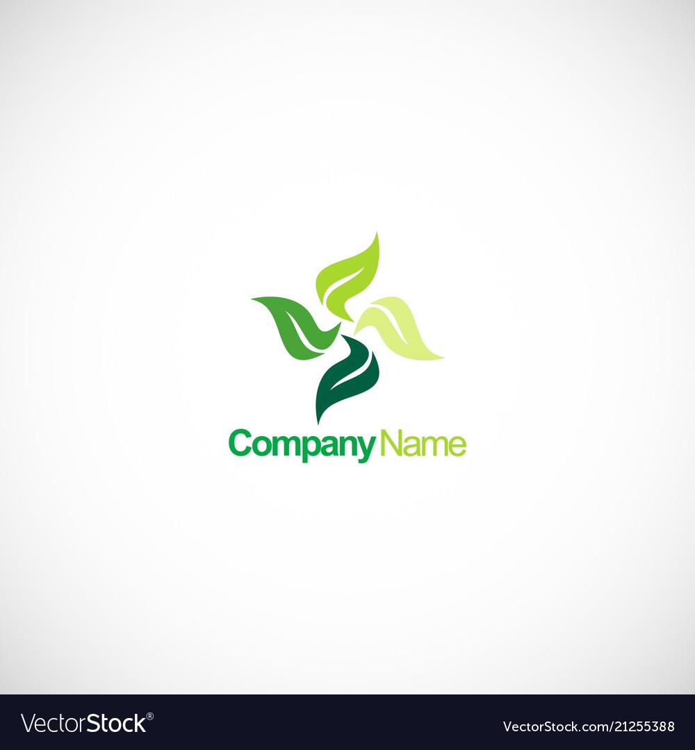 Circle green leaf beauty spa logo