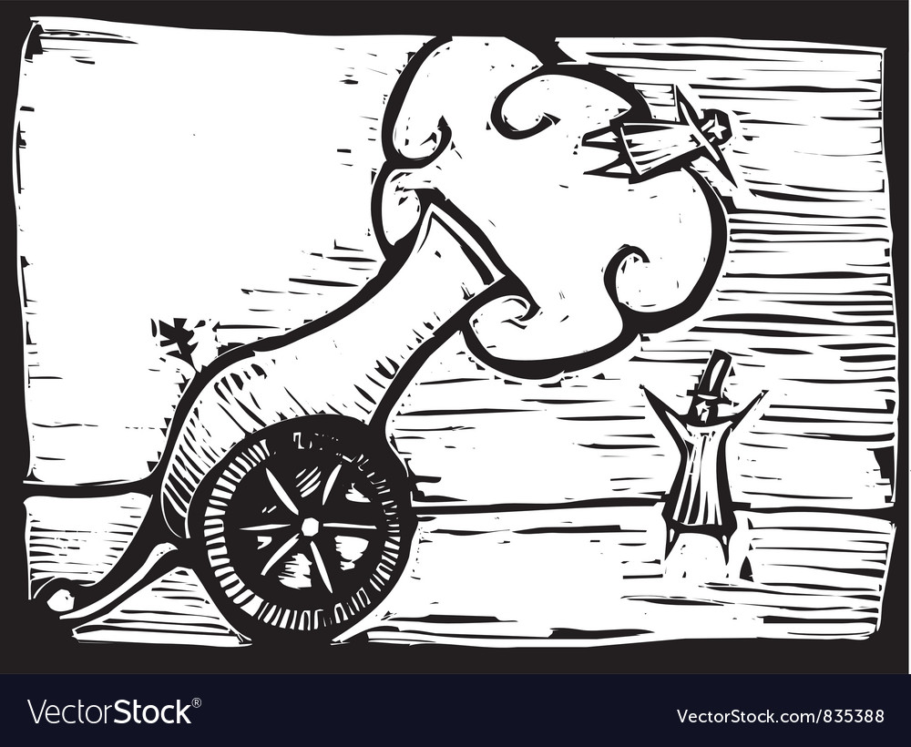 Circus Cannon vector image