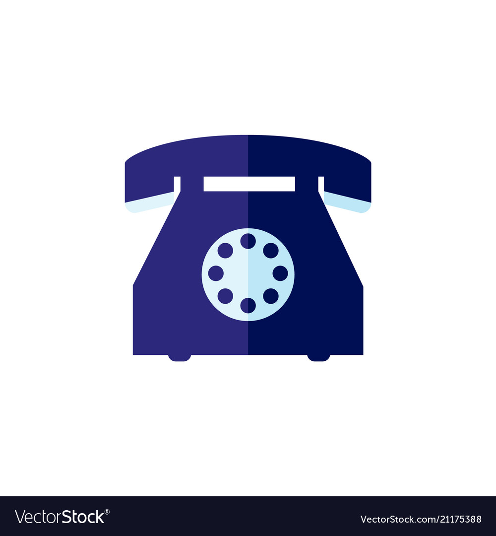 Flat vintage rotary dial phone
