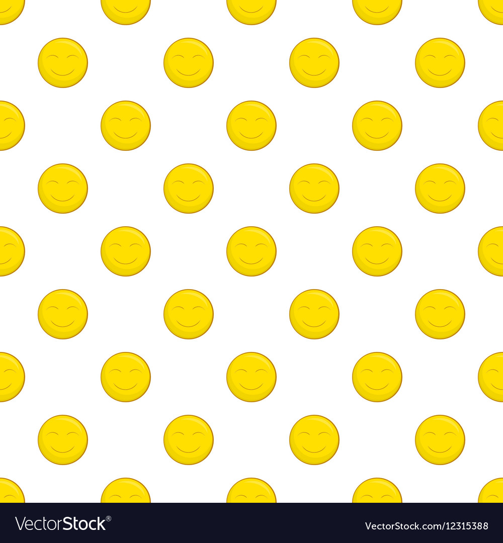Smiley face pattern cartoon style