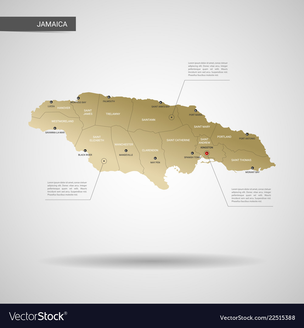 Stylized jamaica map Royalty Free Vector Image