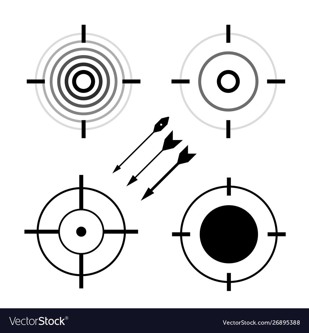 Target symbols set bullseye darts icon