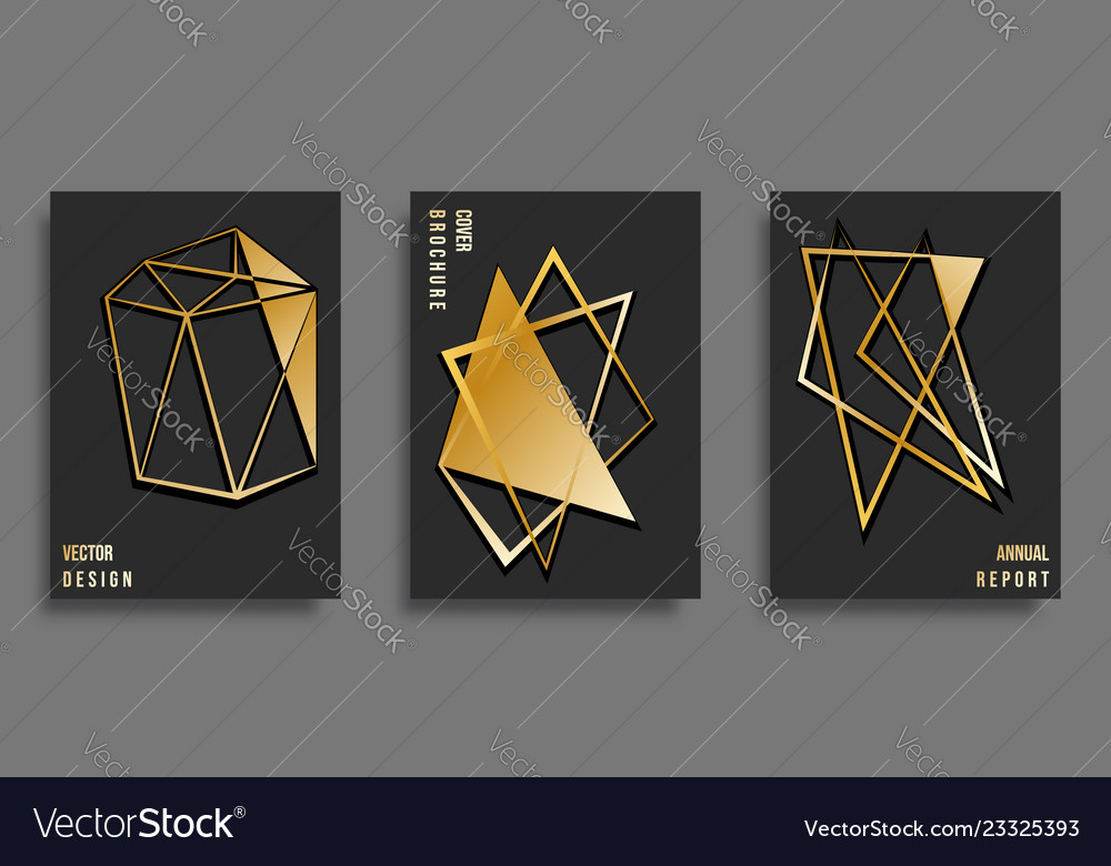 Abstract cover template design set