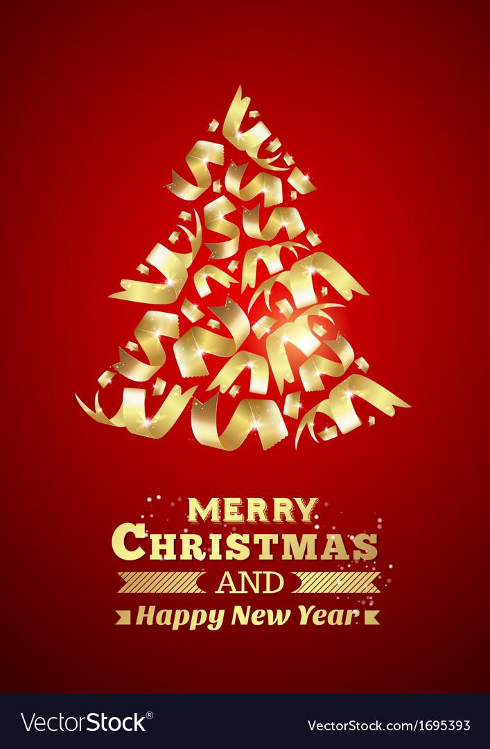 Abstract ribbon christmas tree