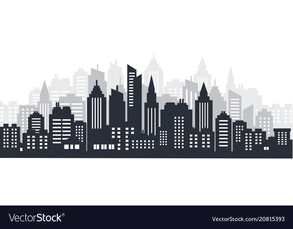City silhouette land scape city landscape
