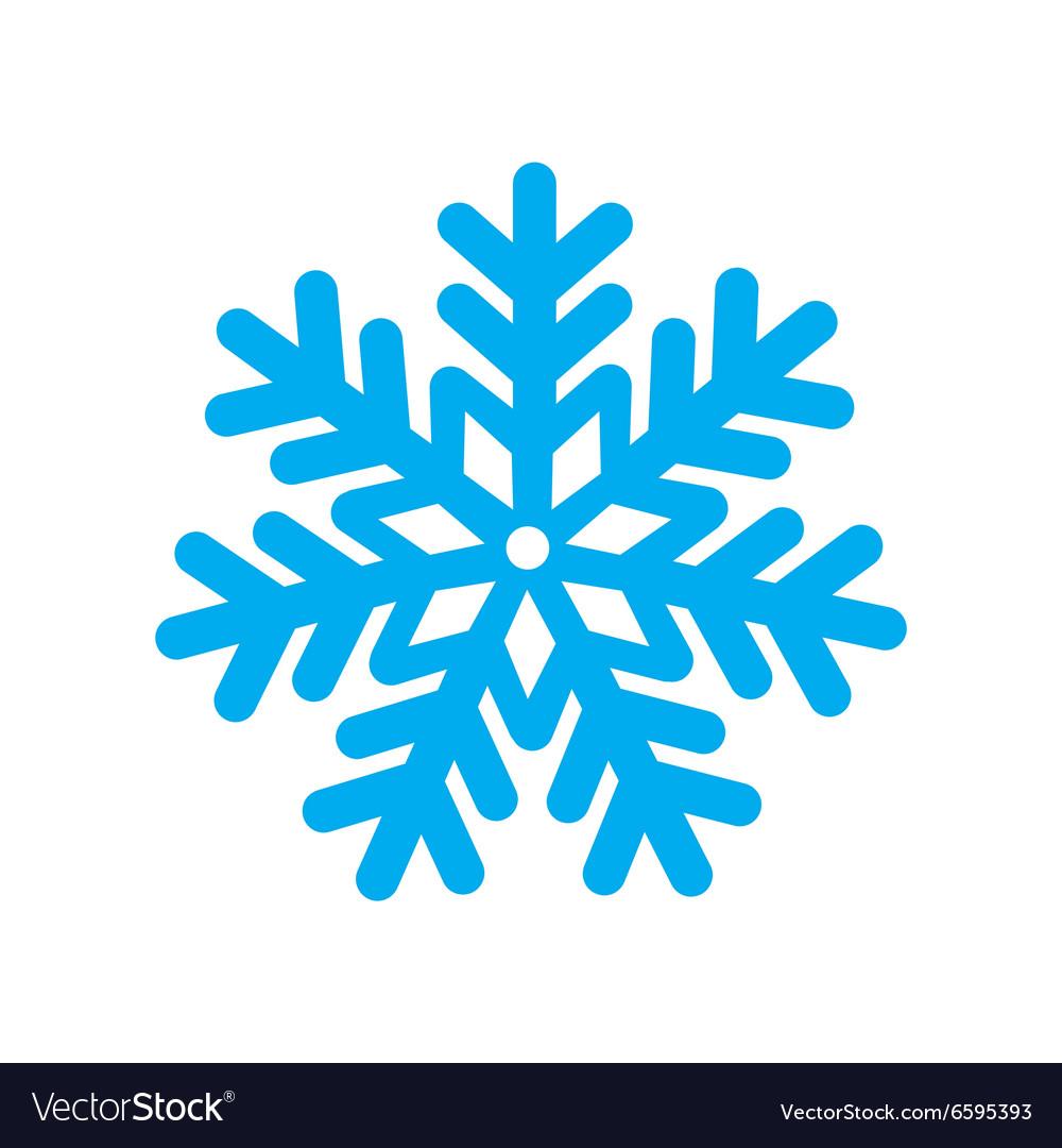 flat icon with long shadow christmas snowflake vector image  vectorstock