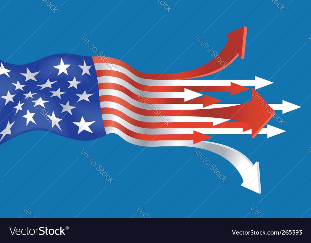 Go America vector image
