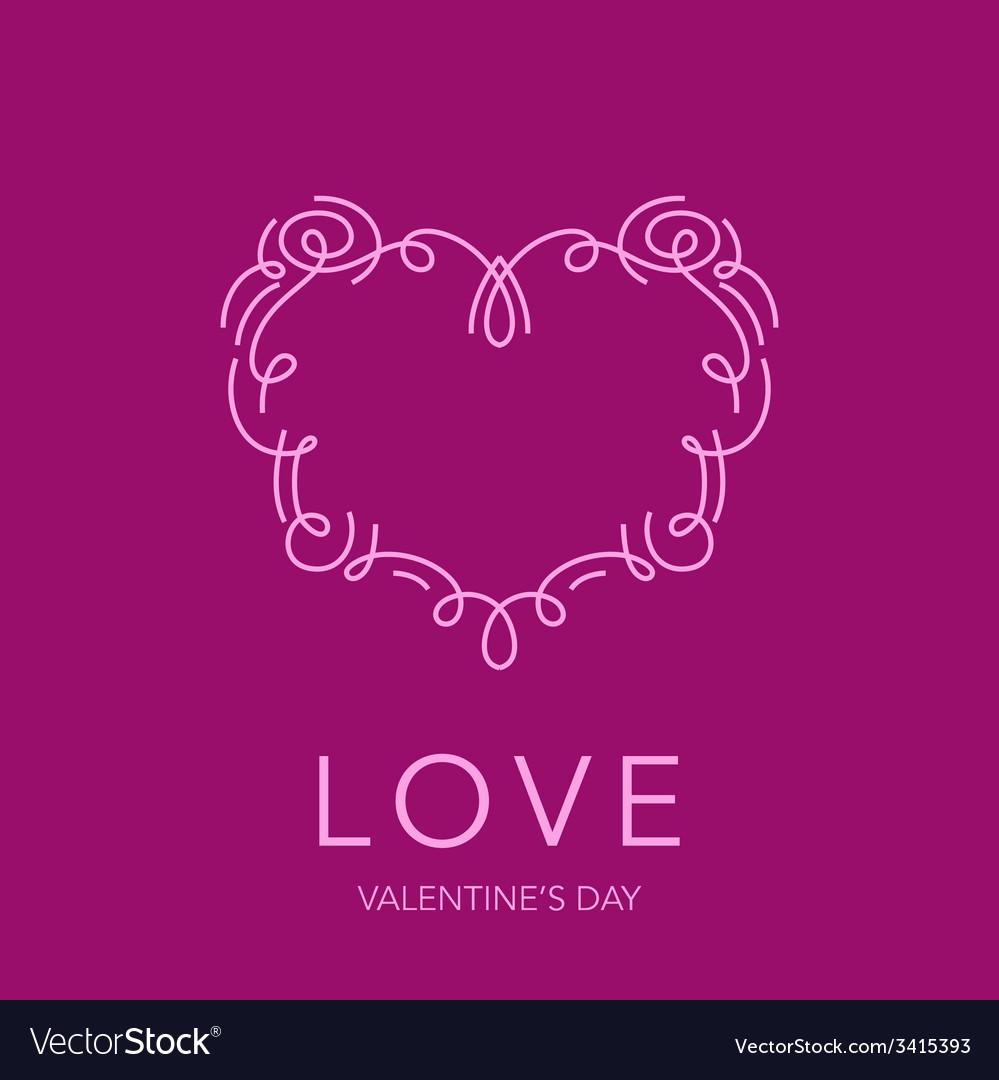Heart Frame - Love Design for Valentines Day Logo