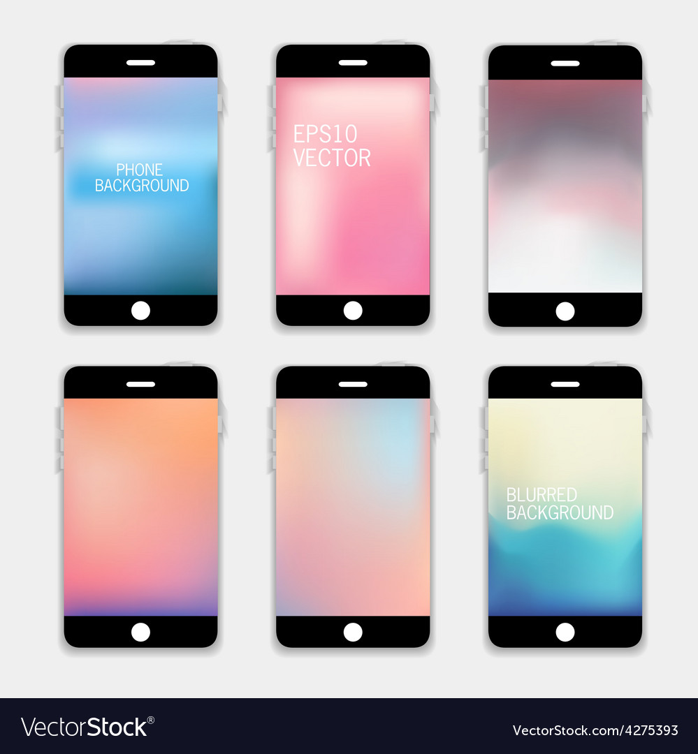 Phones Blurred Backgrounds