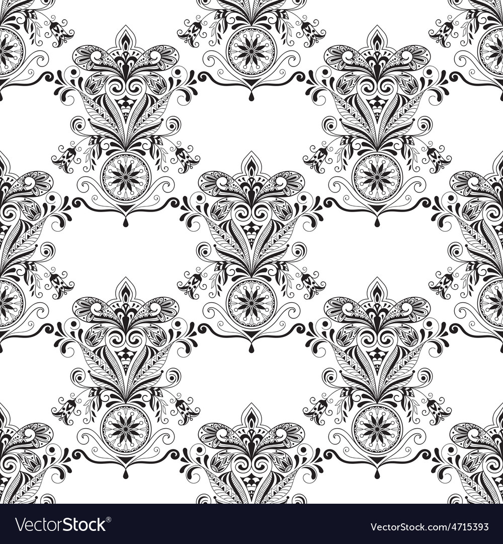 Seamless Paisley Doogle Pattern
