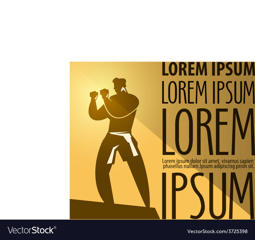 Boxing Logo Design Template Sports Or Vector Image