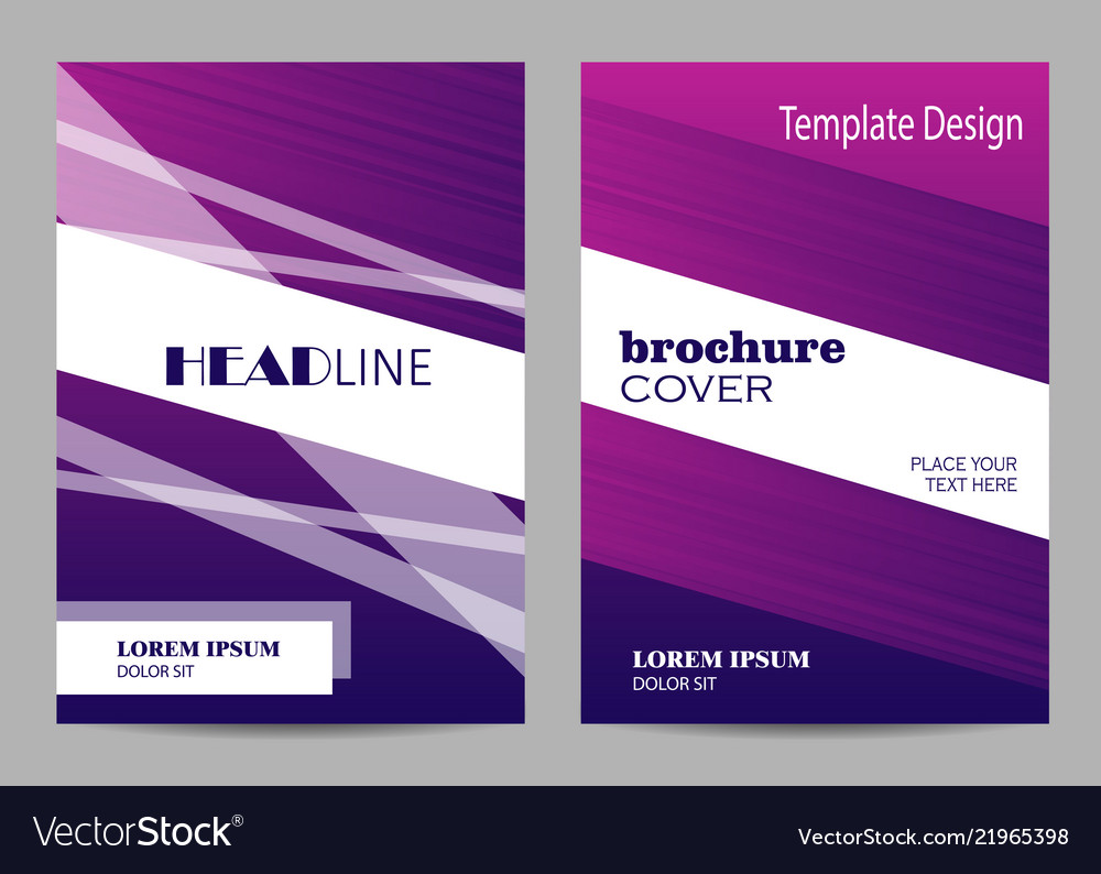 Brochure template layout design abstract purple