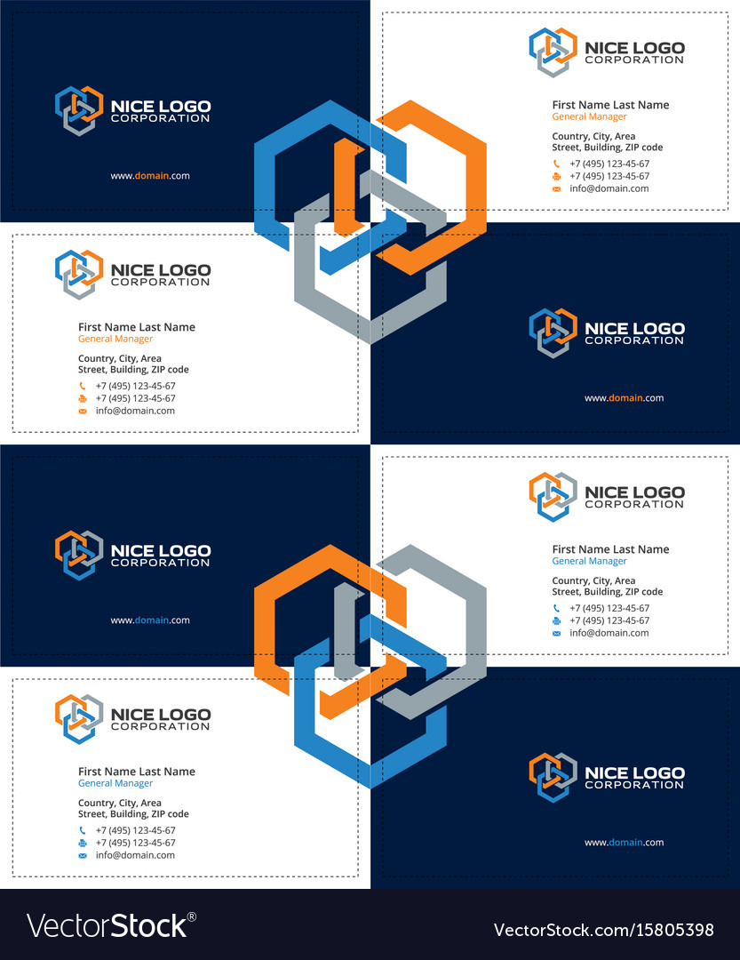 Business card construction industry dark Vector Image