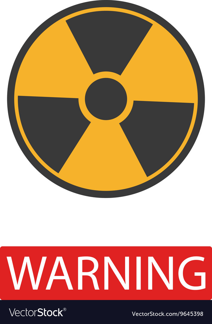 Danger radiation sign collection