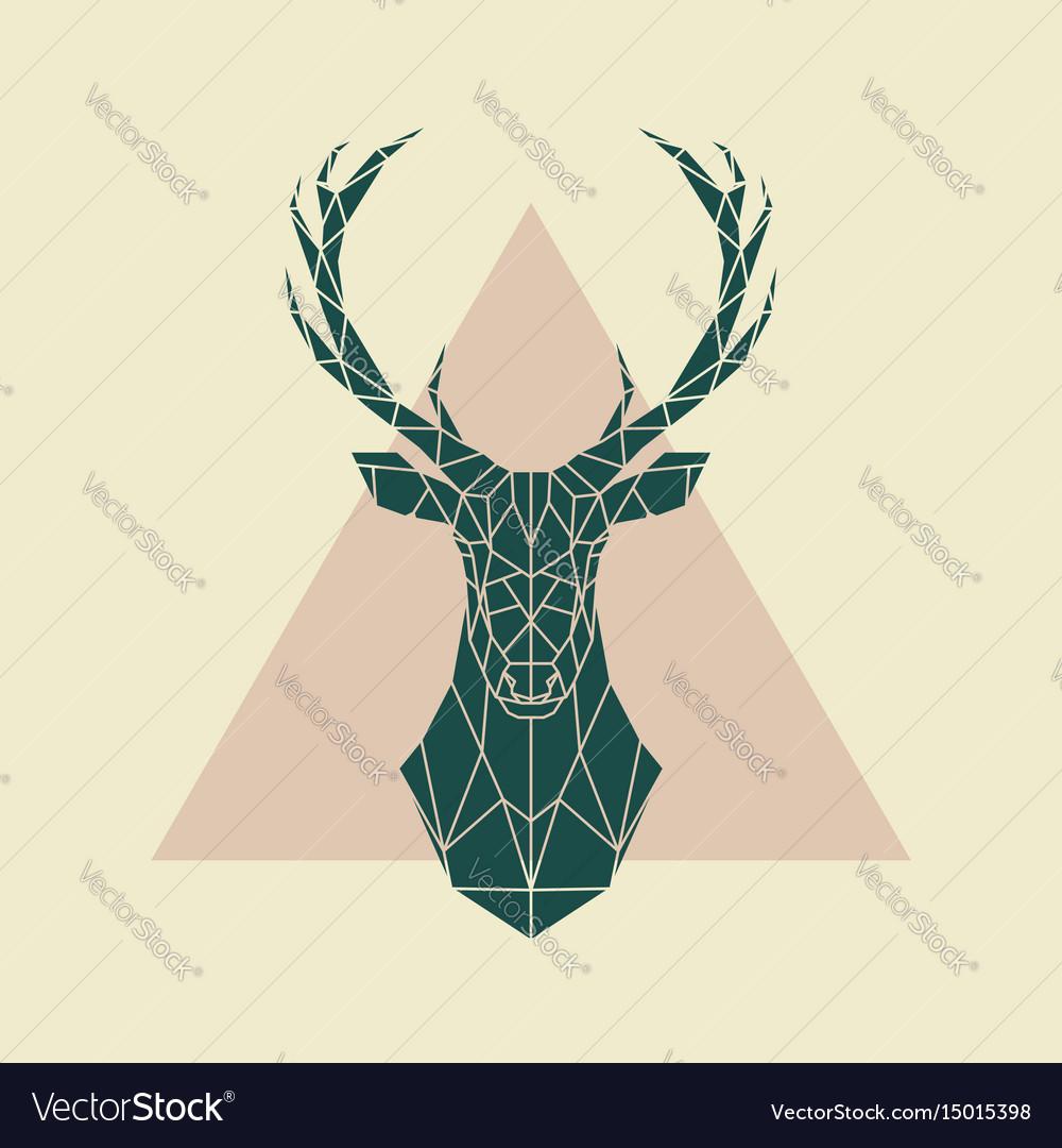 Deer green geometric sign