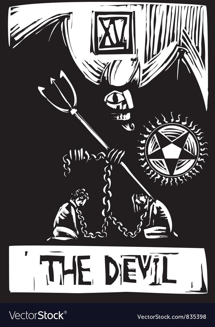 Devil tarot vector image
