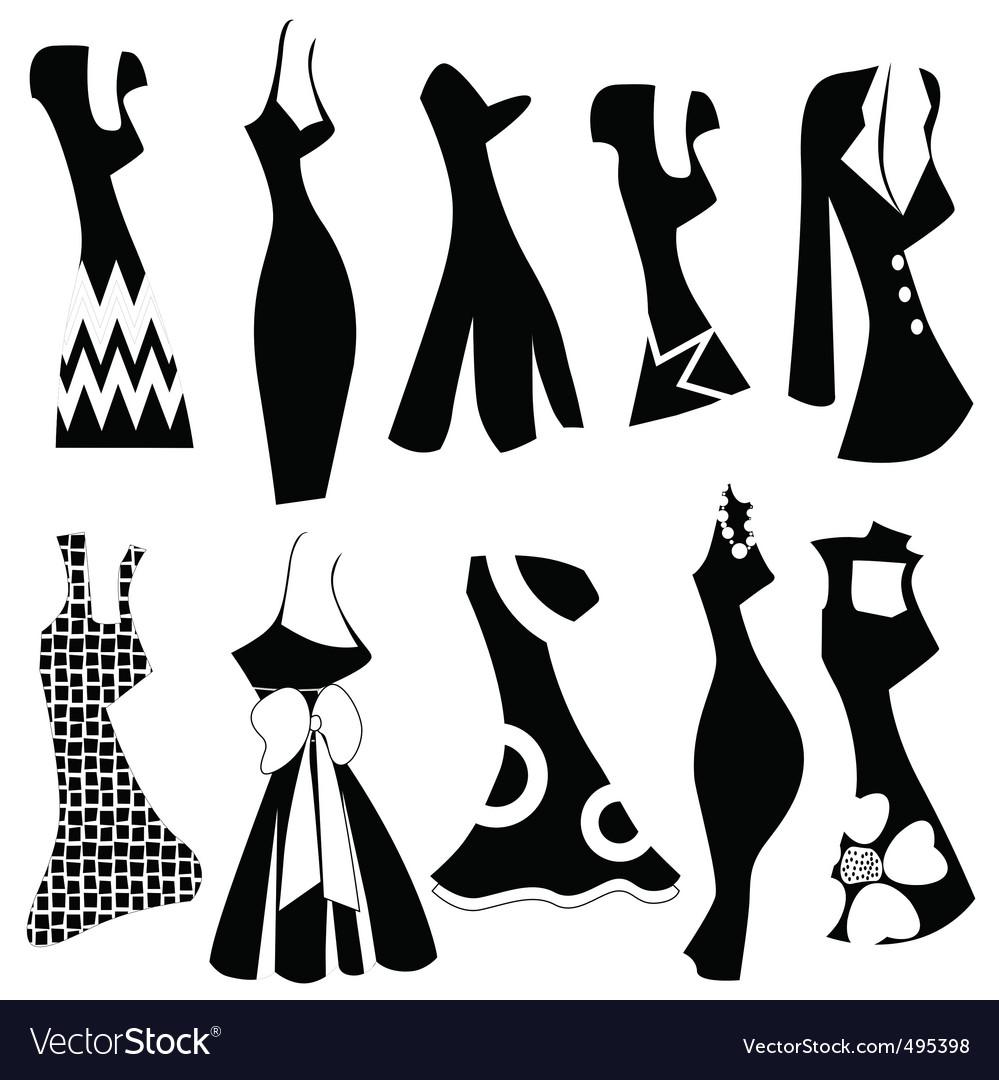 fashion woman dress royalty free vector image vectorstock rh vectorstock com Fashion Logo Vector Fashion Logo Vector