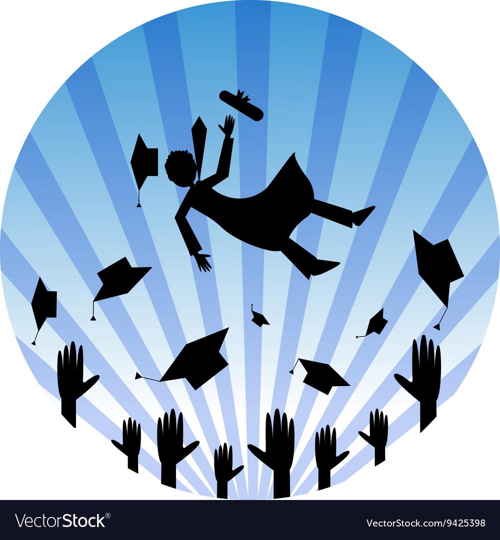 Graduates Celebrating vector image