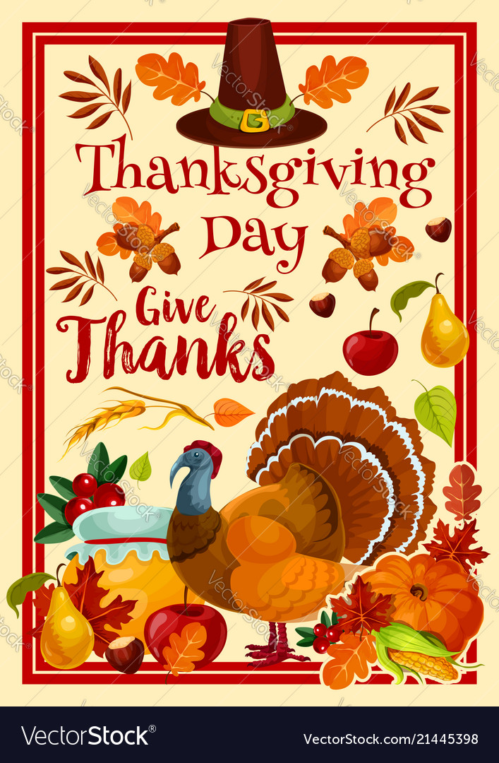 Happy Thanksgiving Day >> Happy Thanksgiving Day Greeting Card Royalty Free Vector