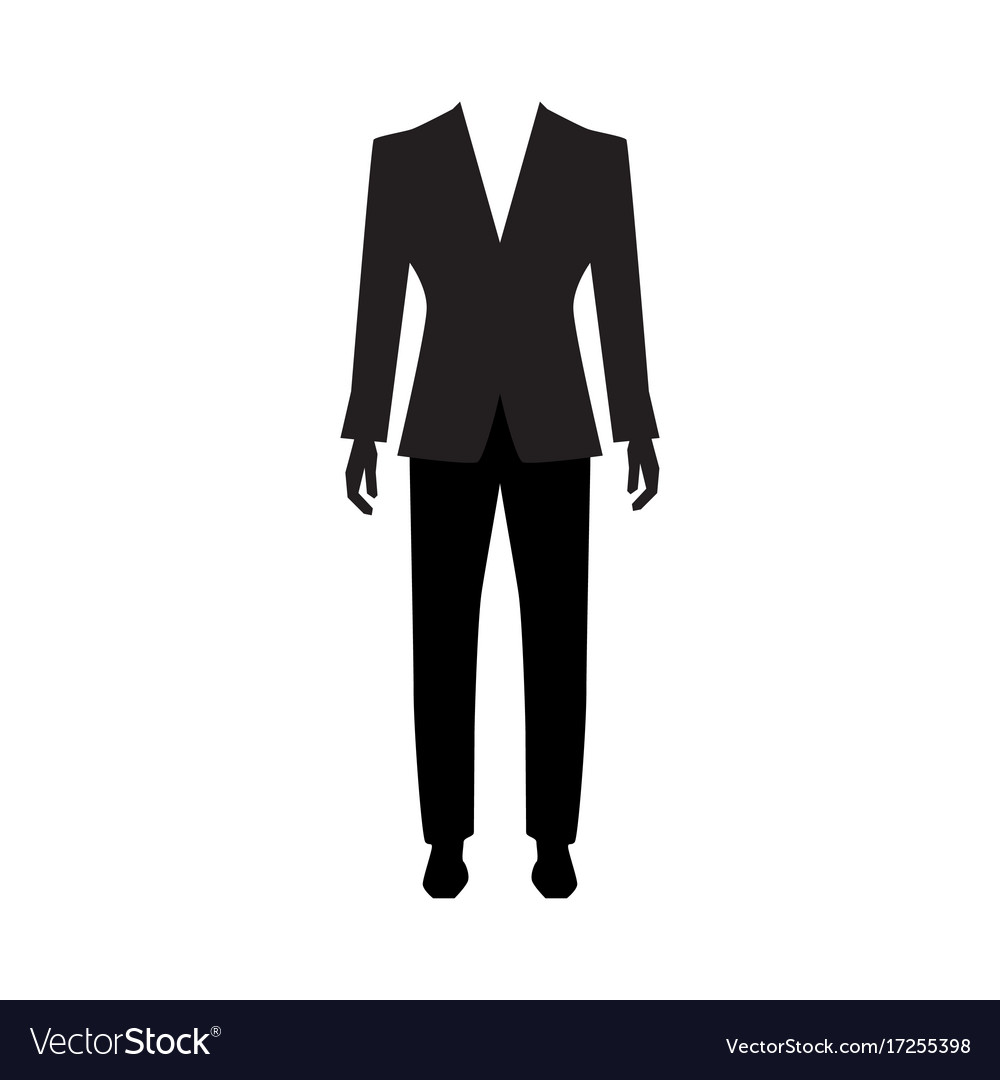 Man suit icon isolated