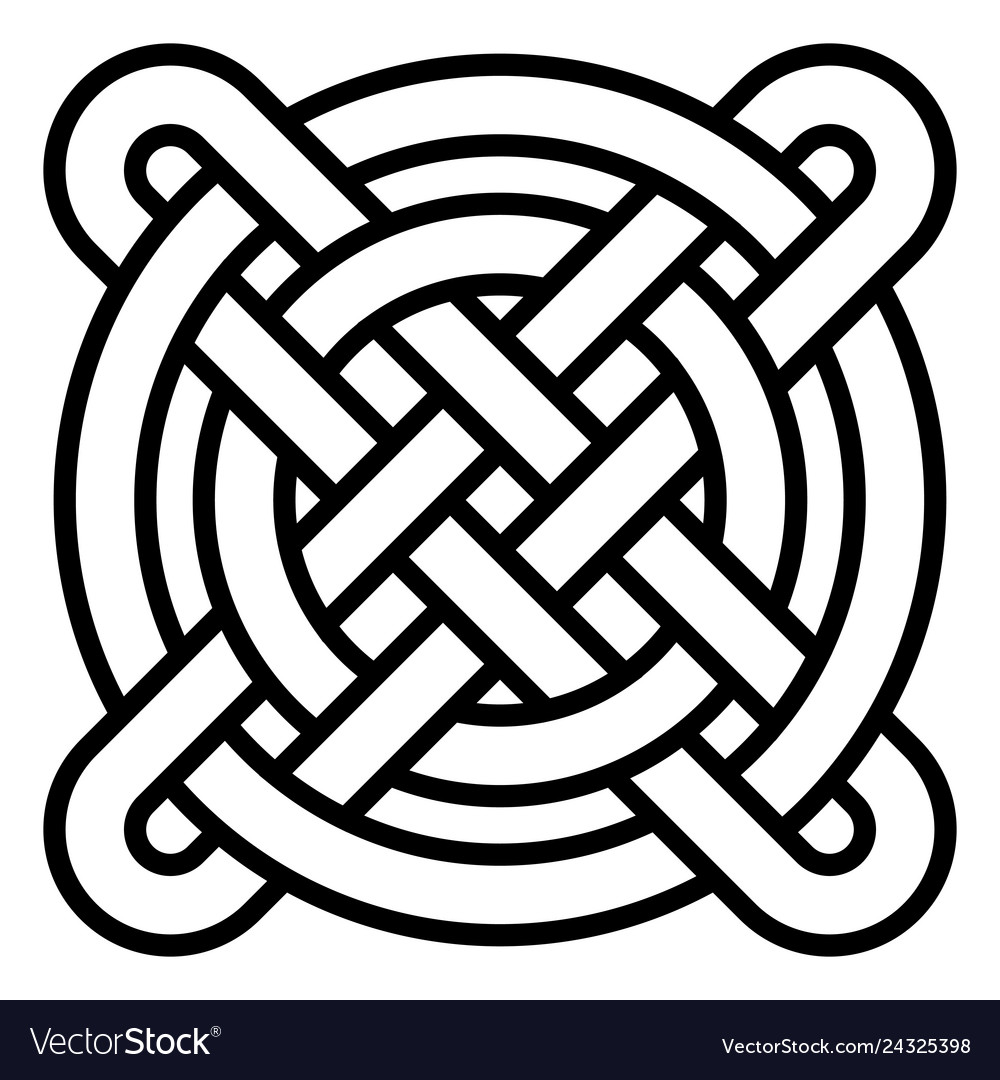 National celtic pattern intertwined circles cross