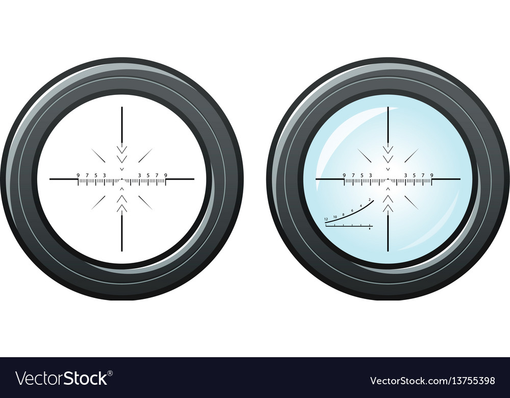 Sniper scope optical sight symbol cross vector image