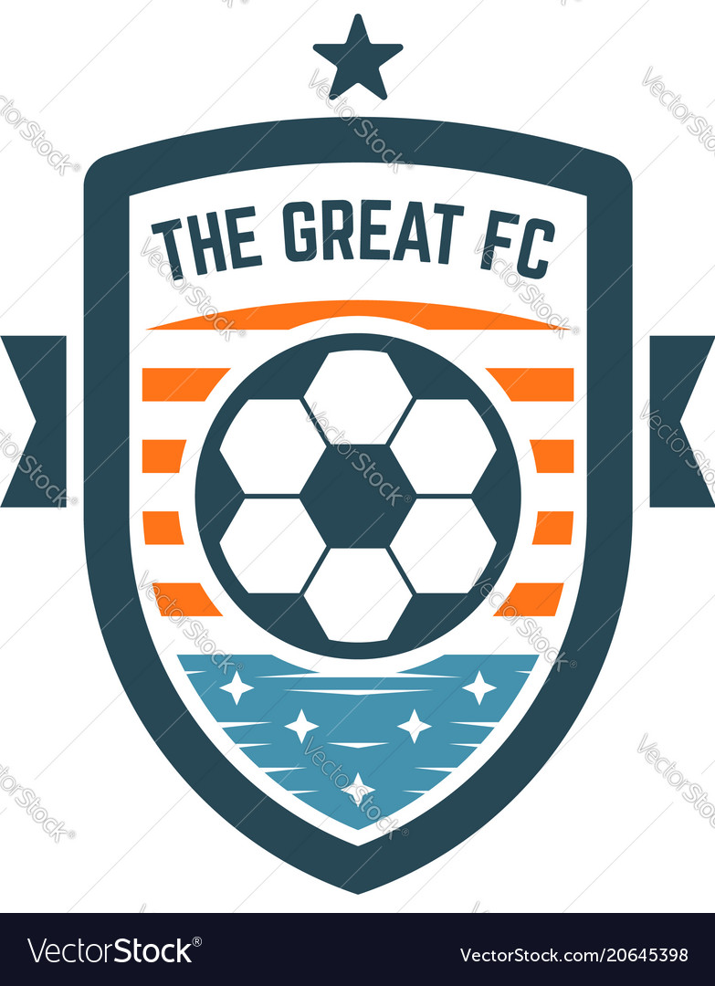 Attractive Soccer Or Football Club Logo Or Badge Vector Image
