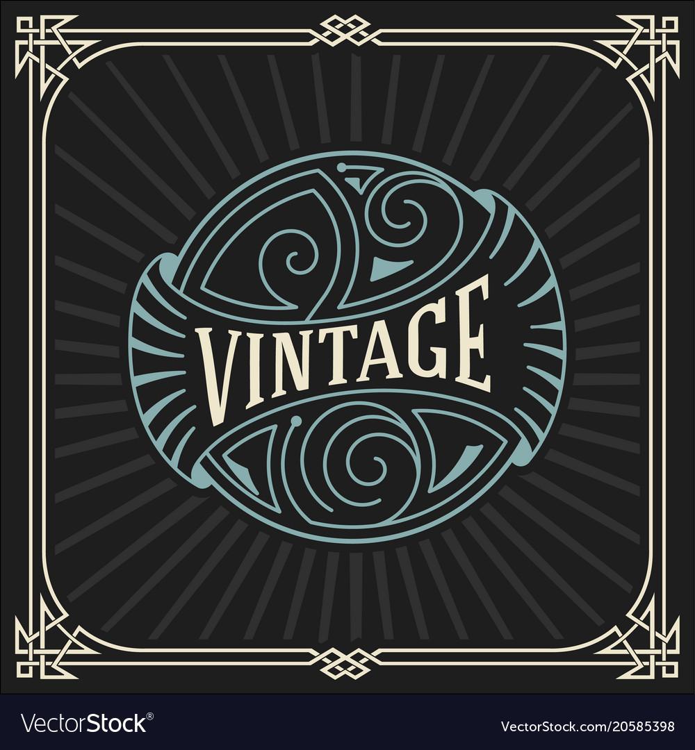 Vintage logo template hotel restaurant business