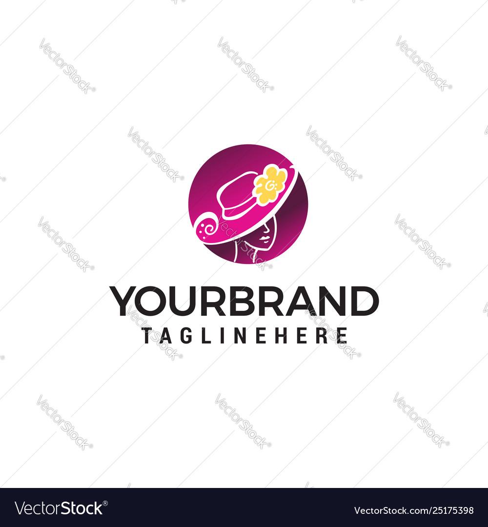 Women fashion beauty logo design concept template