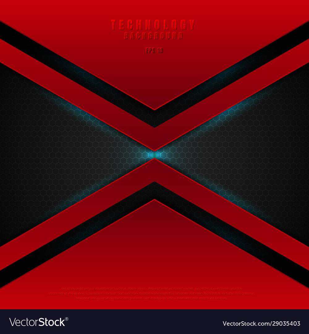 Abstract technology futuristic red geometric