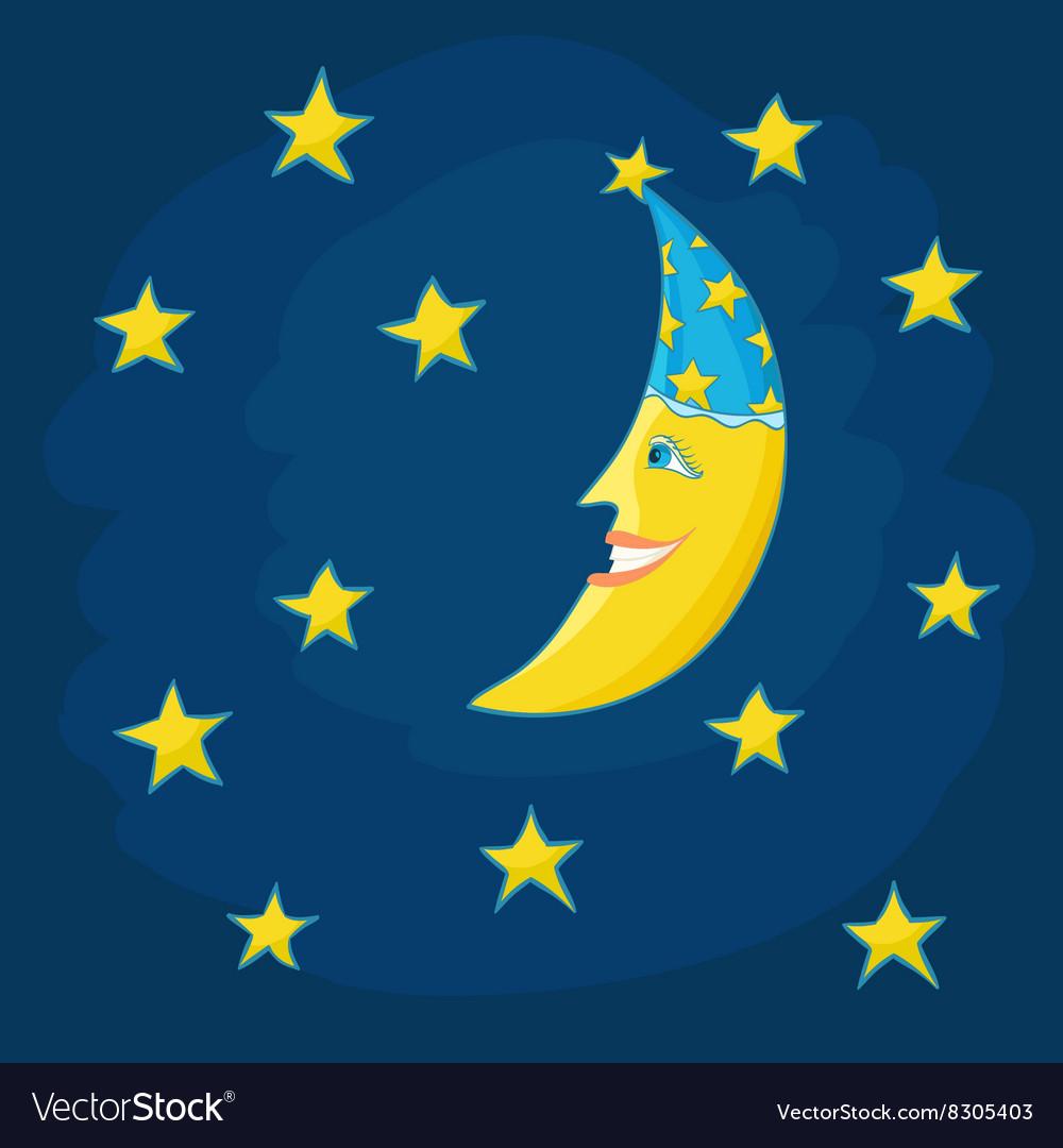 Cartoon moon
