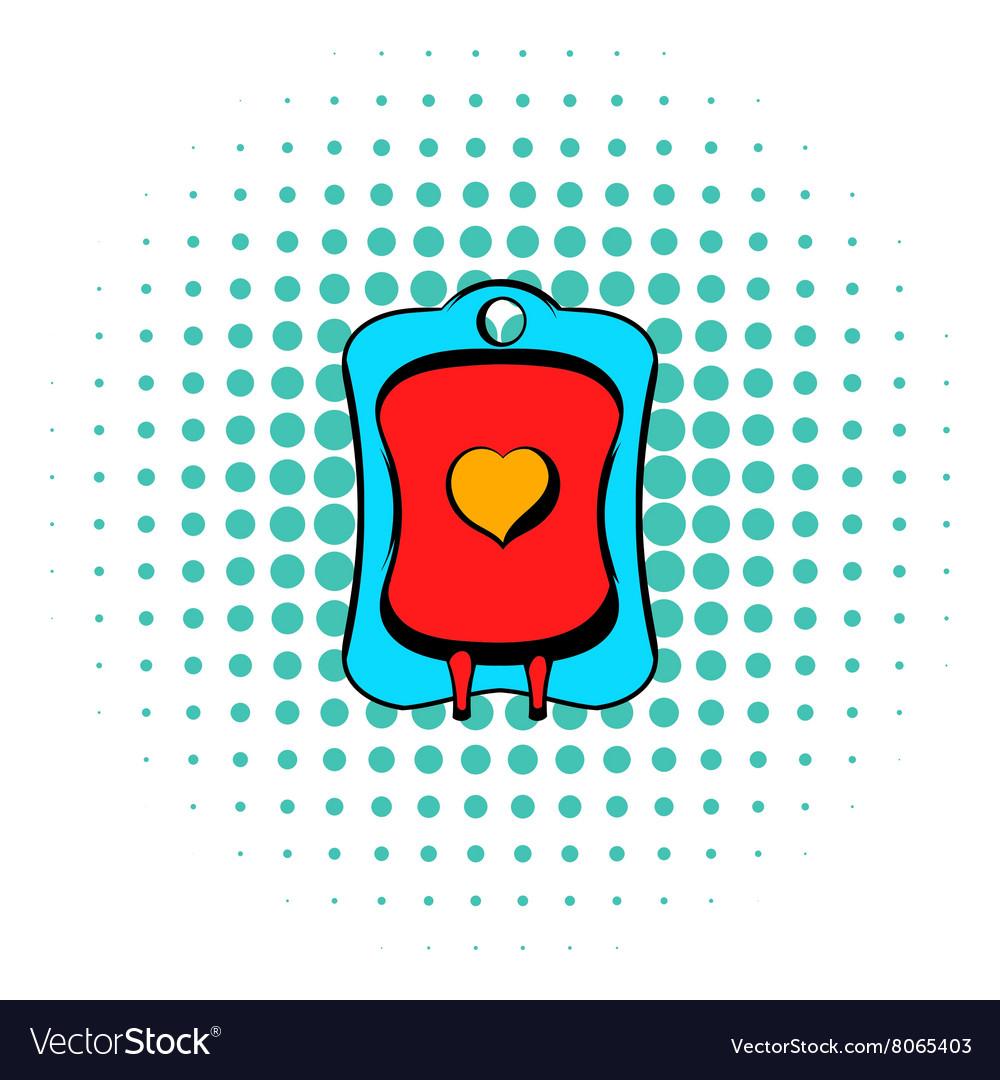 Donate blood icon comics style