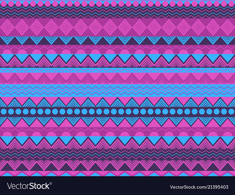 Ethnic seamless pattern violet and blue color