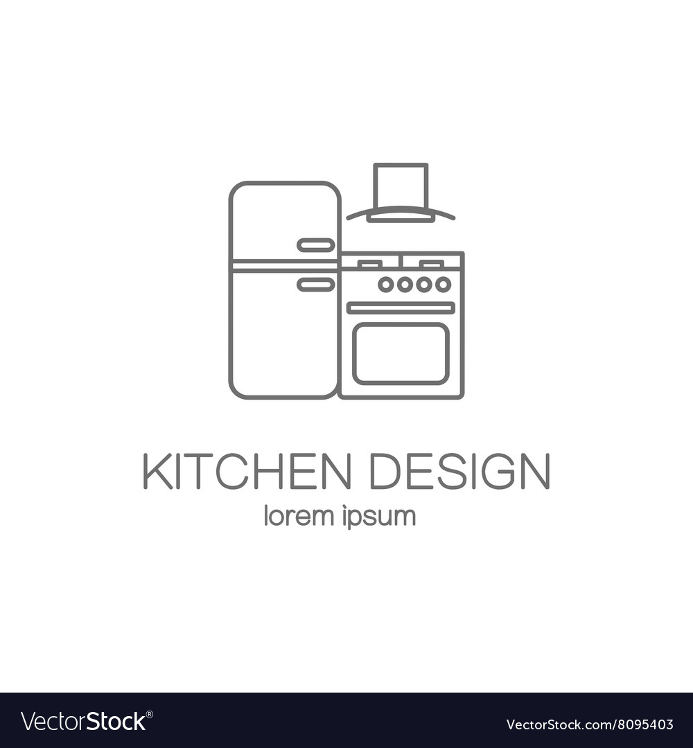 Kitchen logo design templates Royalty Free Vector Image