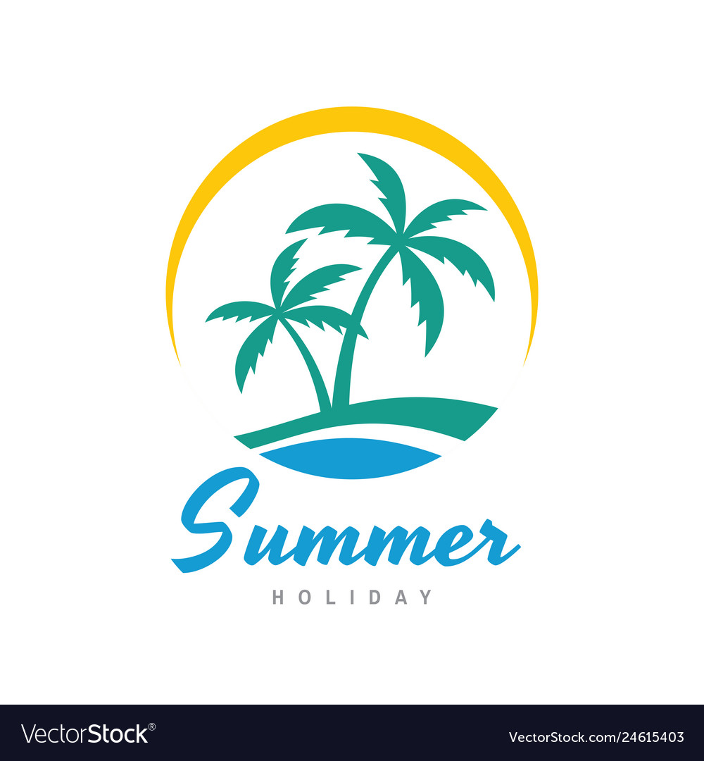 Summer holiday - concept business logo