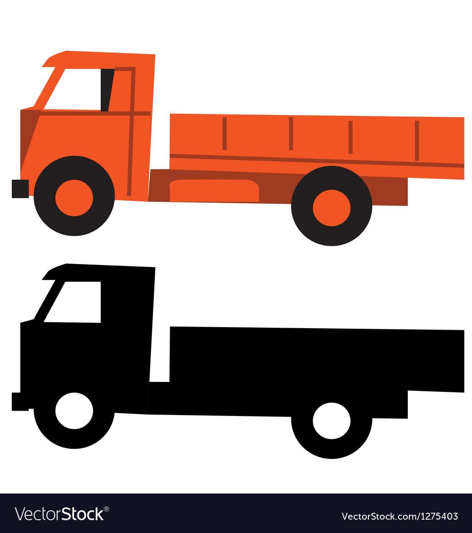 truck cartoon silhouette royalty free vector image rh vectorstock com vector trucking salt lake city ut vector truck tire